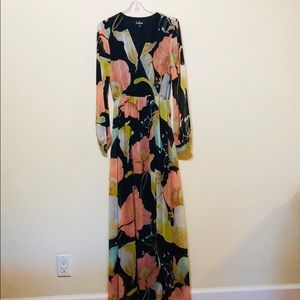 LuLu's Floral Maxi Dress | sz: XS |